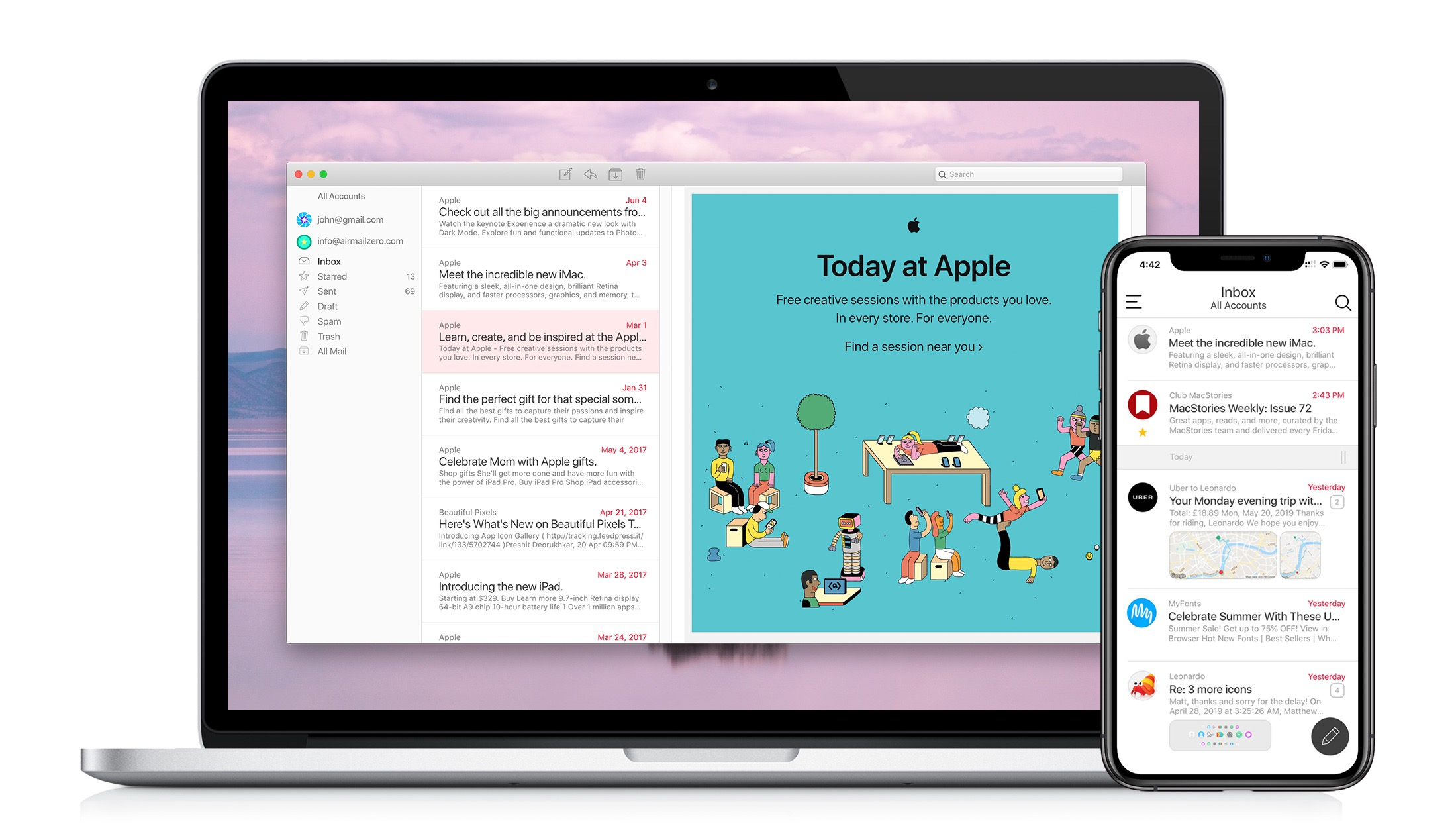 Airmail Zero: Blazingly-Fast Gmail Triage for the Mac and iPhone