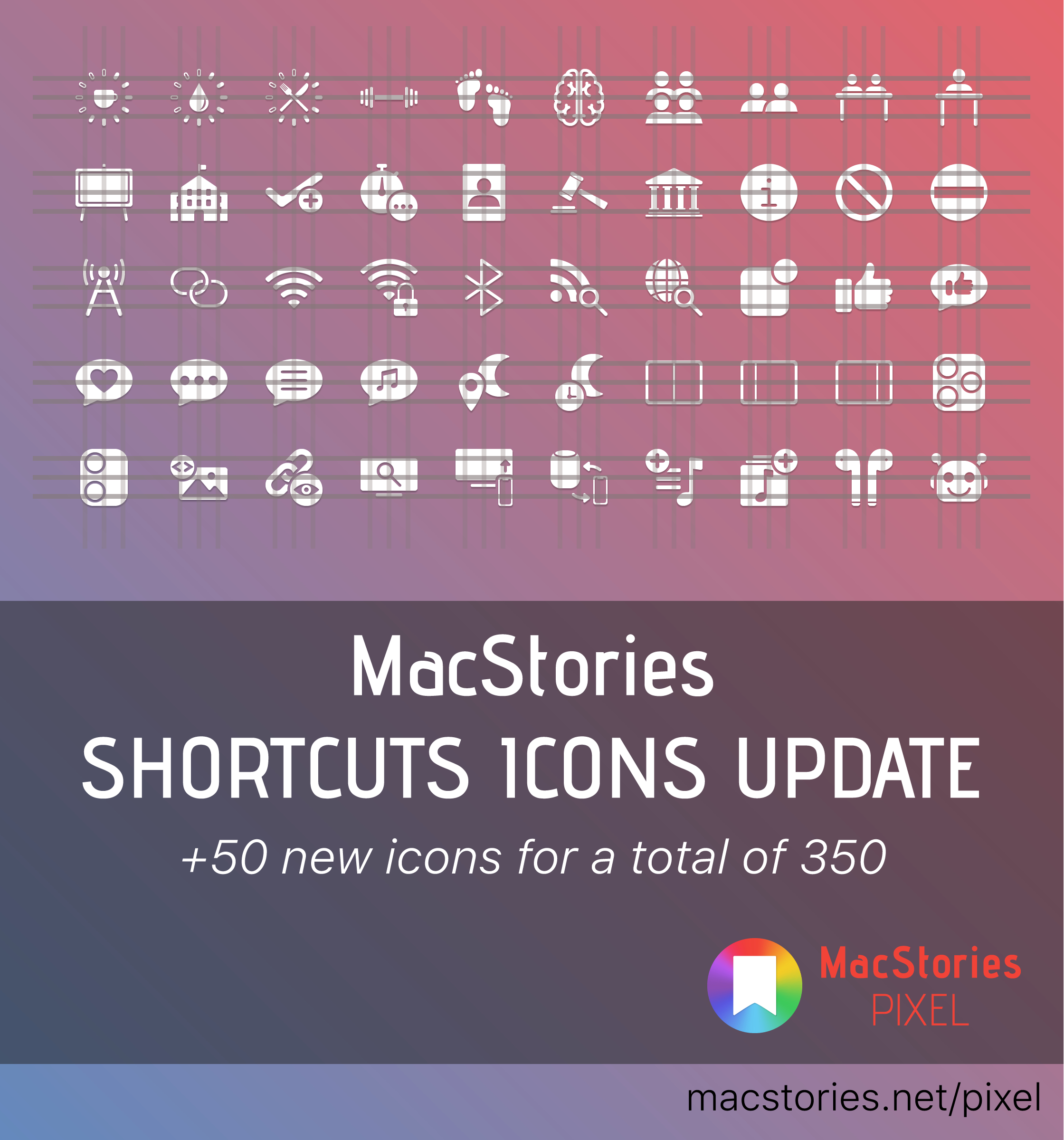 MacStories Shortcuts Icons Receives Free Update with 50 New Glyphs