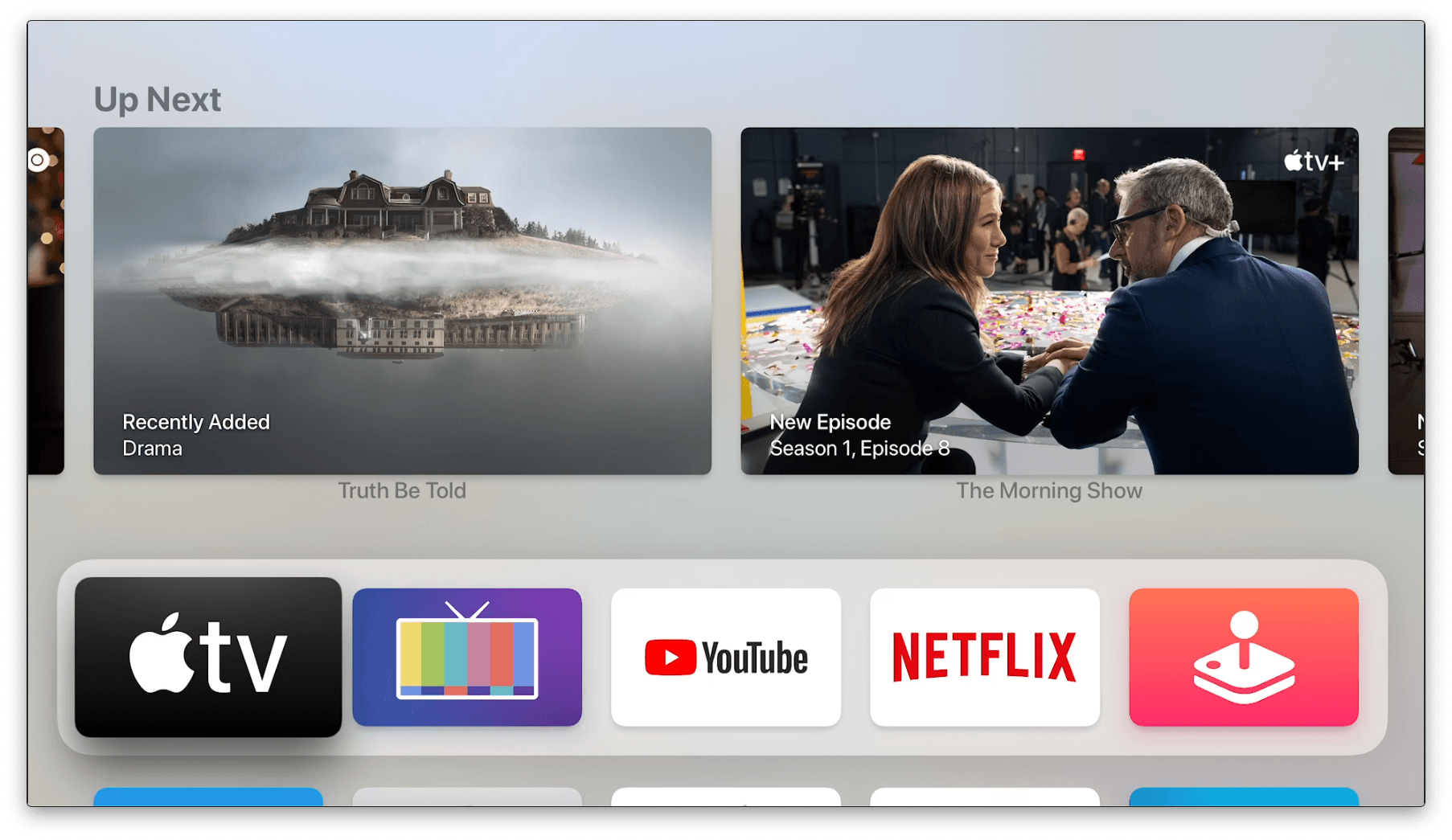 The new, old Top Shelf behavior for the TV app.