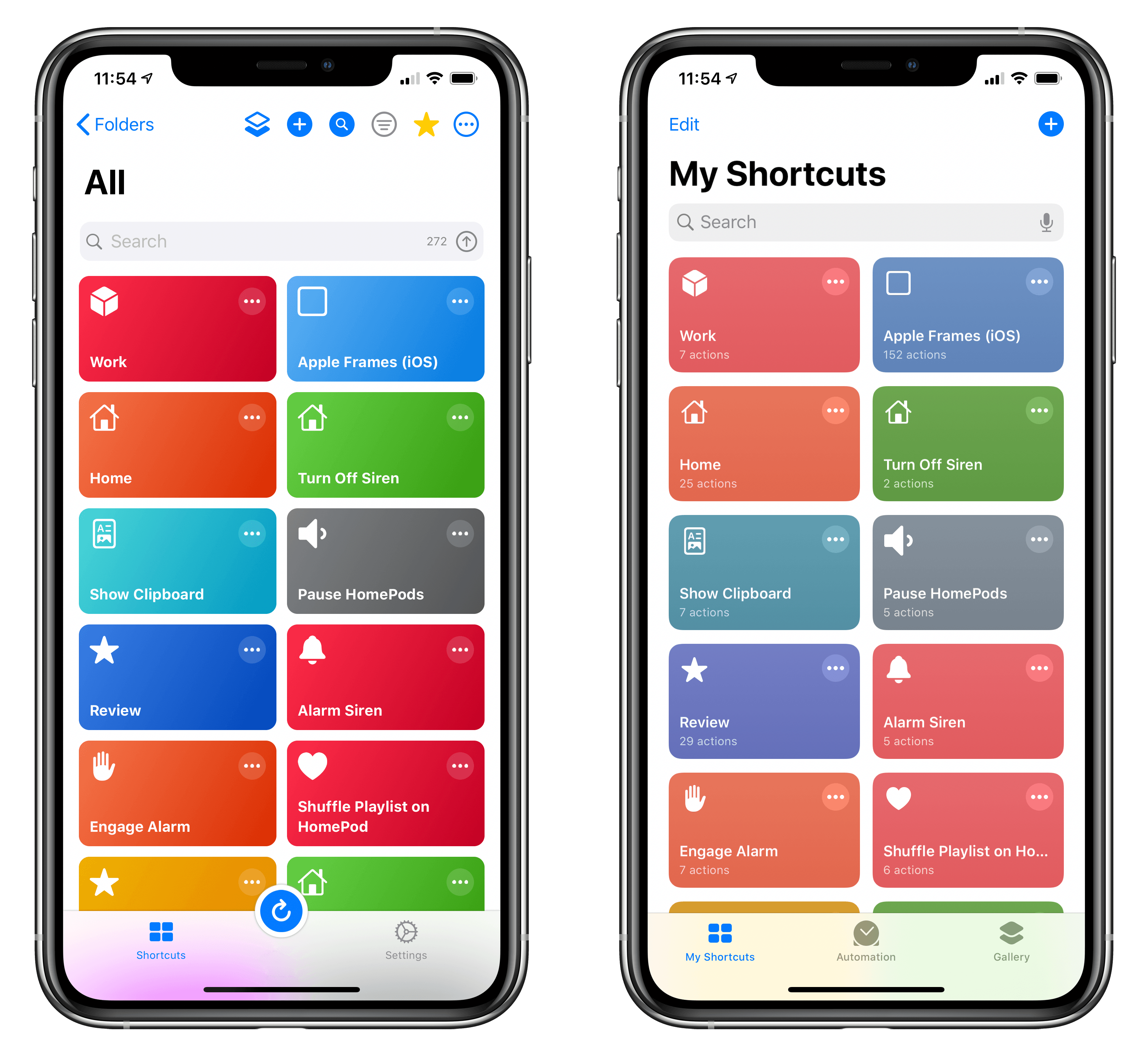 Good colors in LaunchCuts Vs. Whatever Apple did in iOS 13 (right).