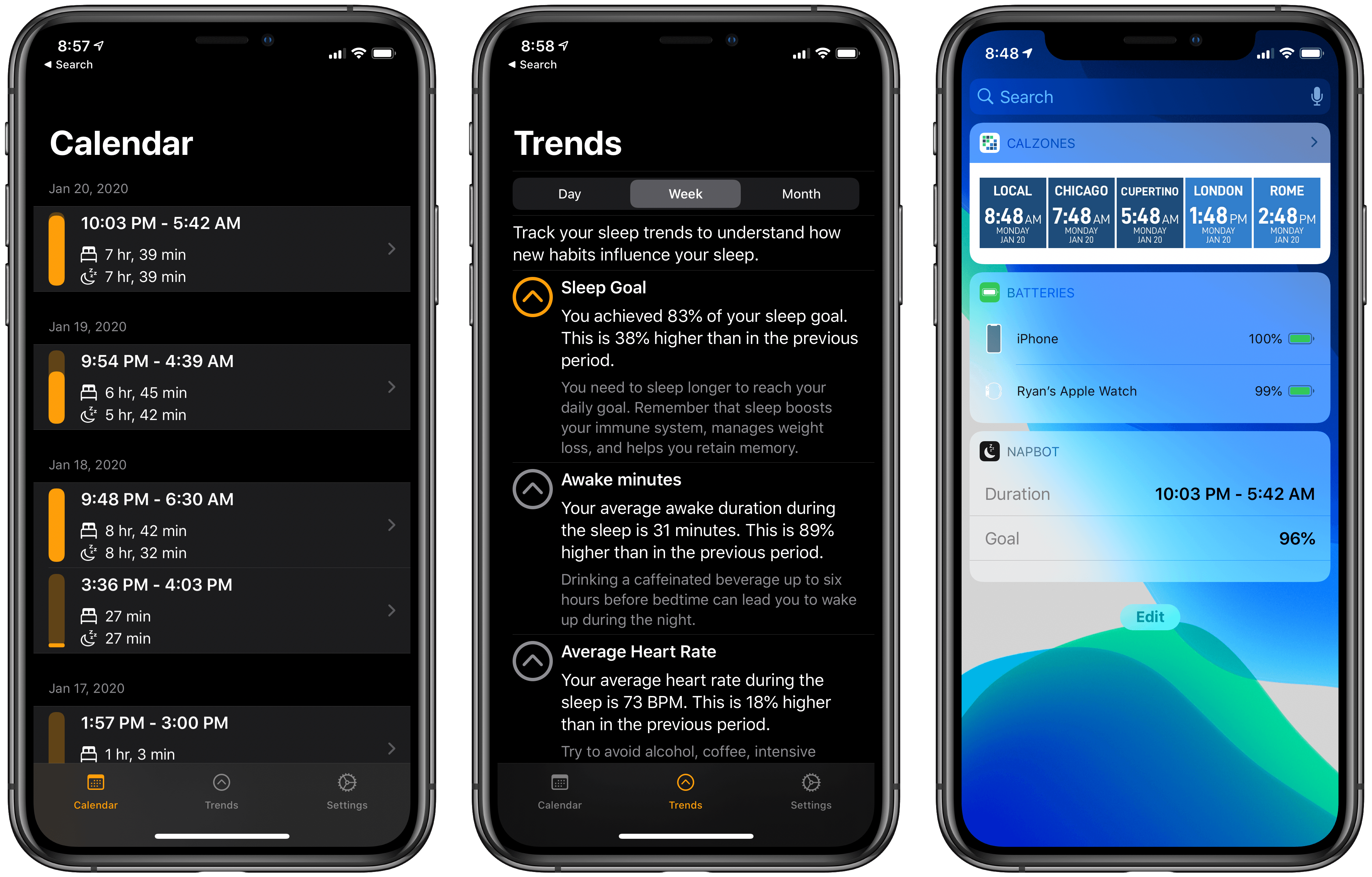 NapBot 1.3 Adds Independent Watch App, Today Widget, Notifications, and New Awake Minutes Trend