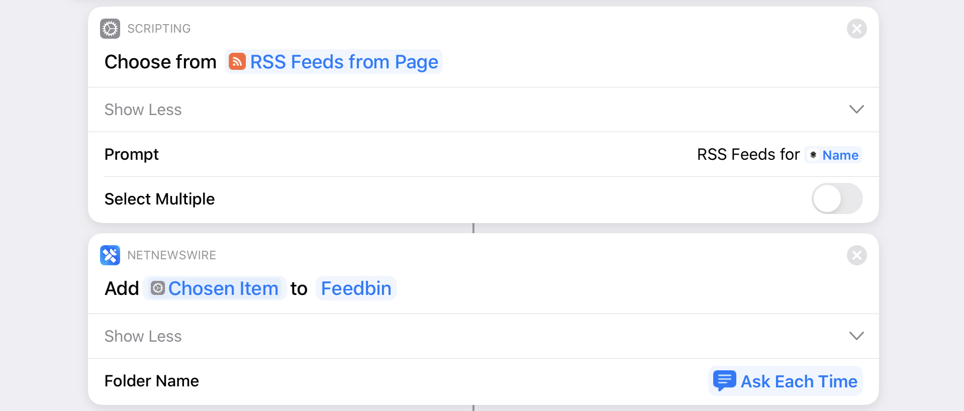 All it takes to subscribe to a new feed in NetNewsWire is a single action.