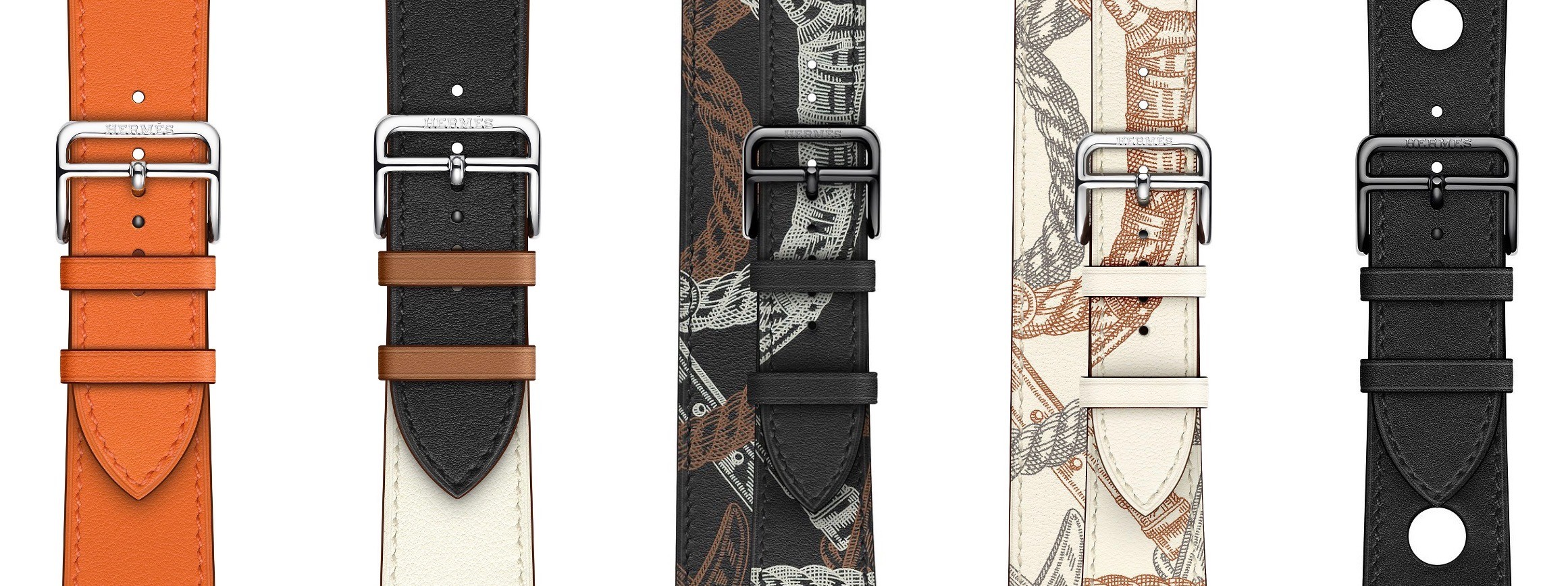 New designs in the Hermès line of bands.