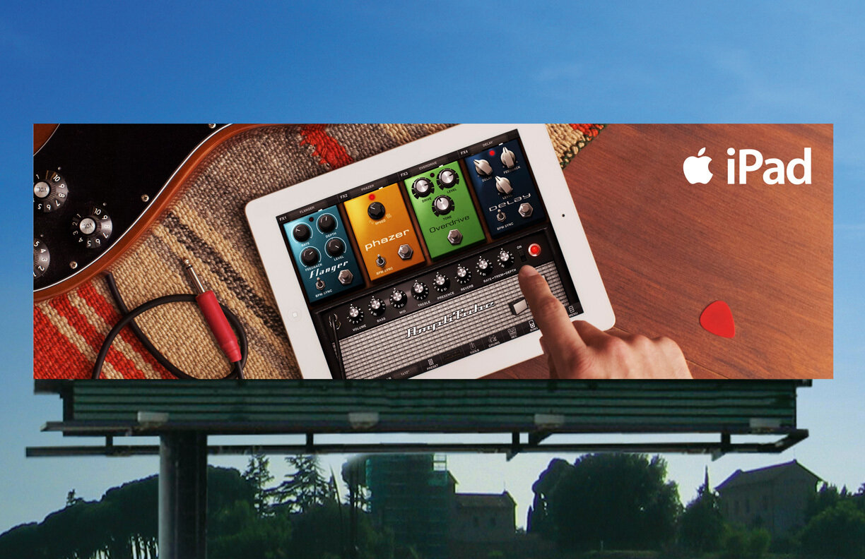 A GarageBand for iPad billboard.