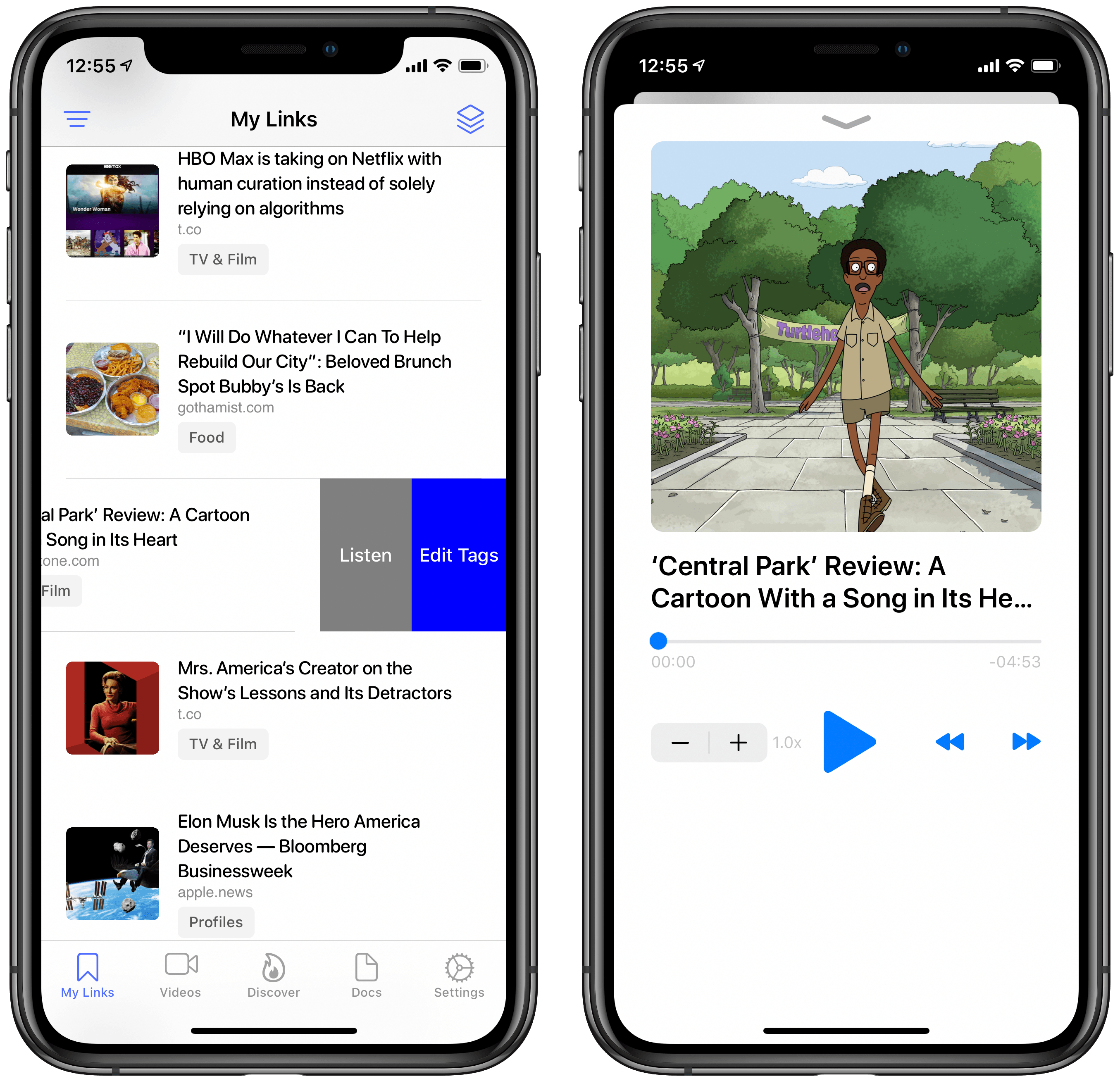 You can jump straight into listening mode using a custom swipe gesture.