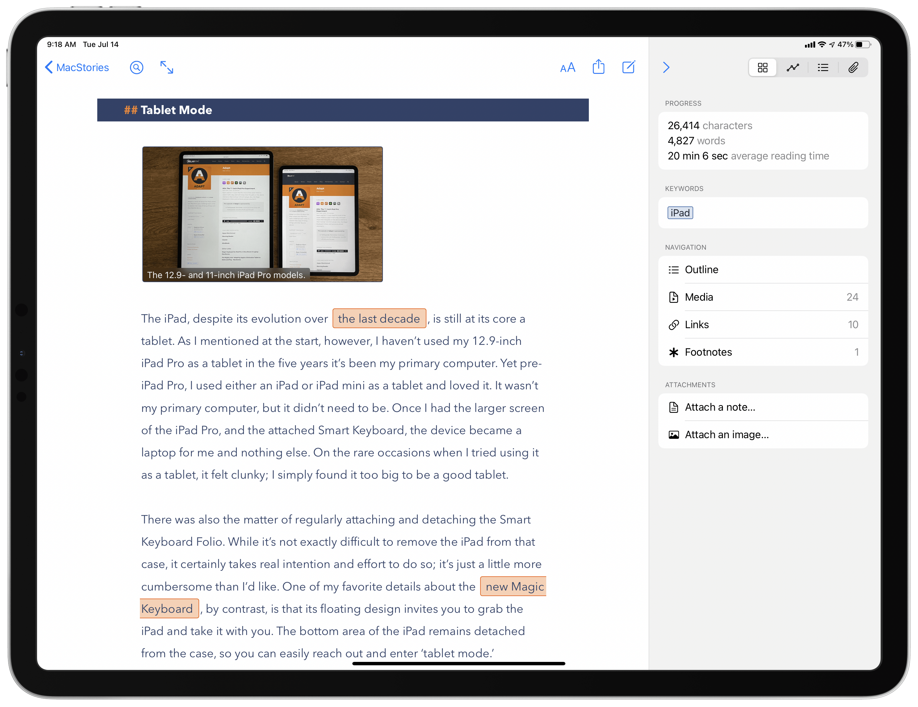Ulysses 20 Review: New Dashboard Featuring Advanced Grammar and Style Check, Outline, and Much More