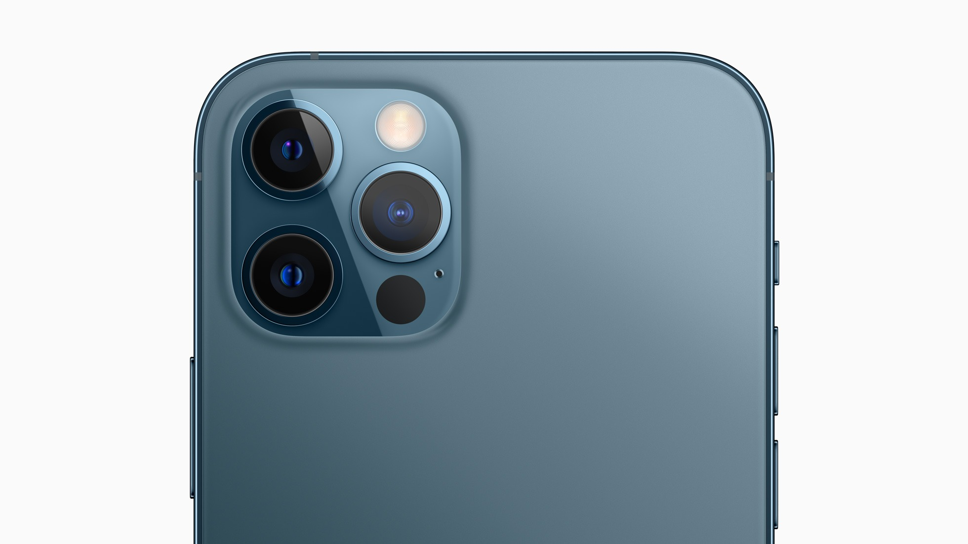 The iPhone 12 Pro's camera array.