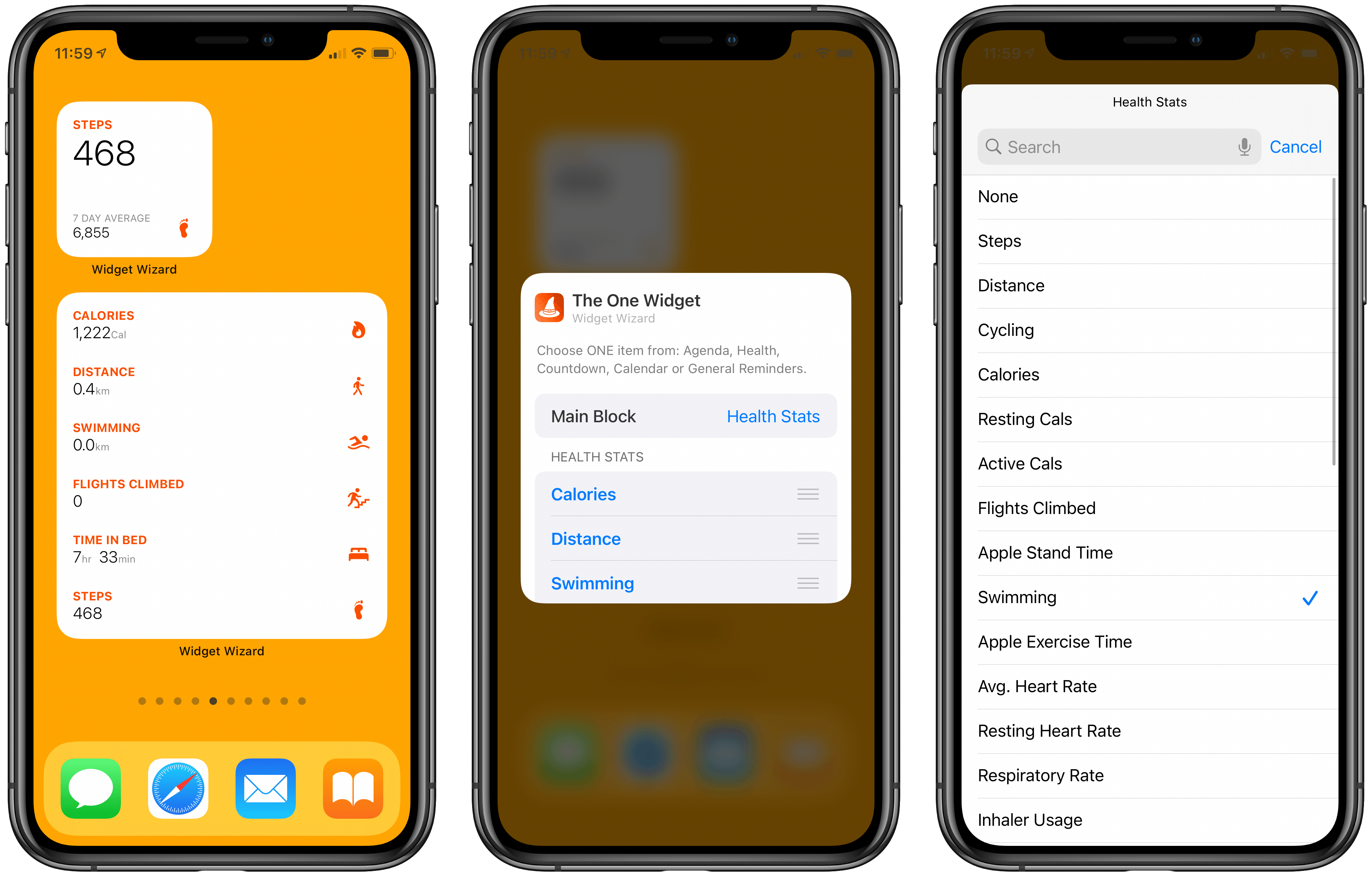 Widget Wizard offers simple widget setup.