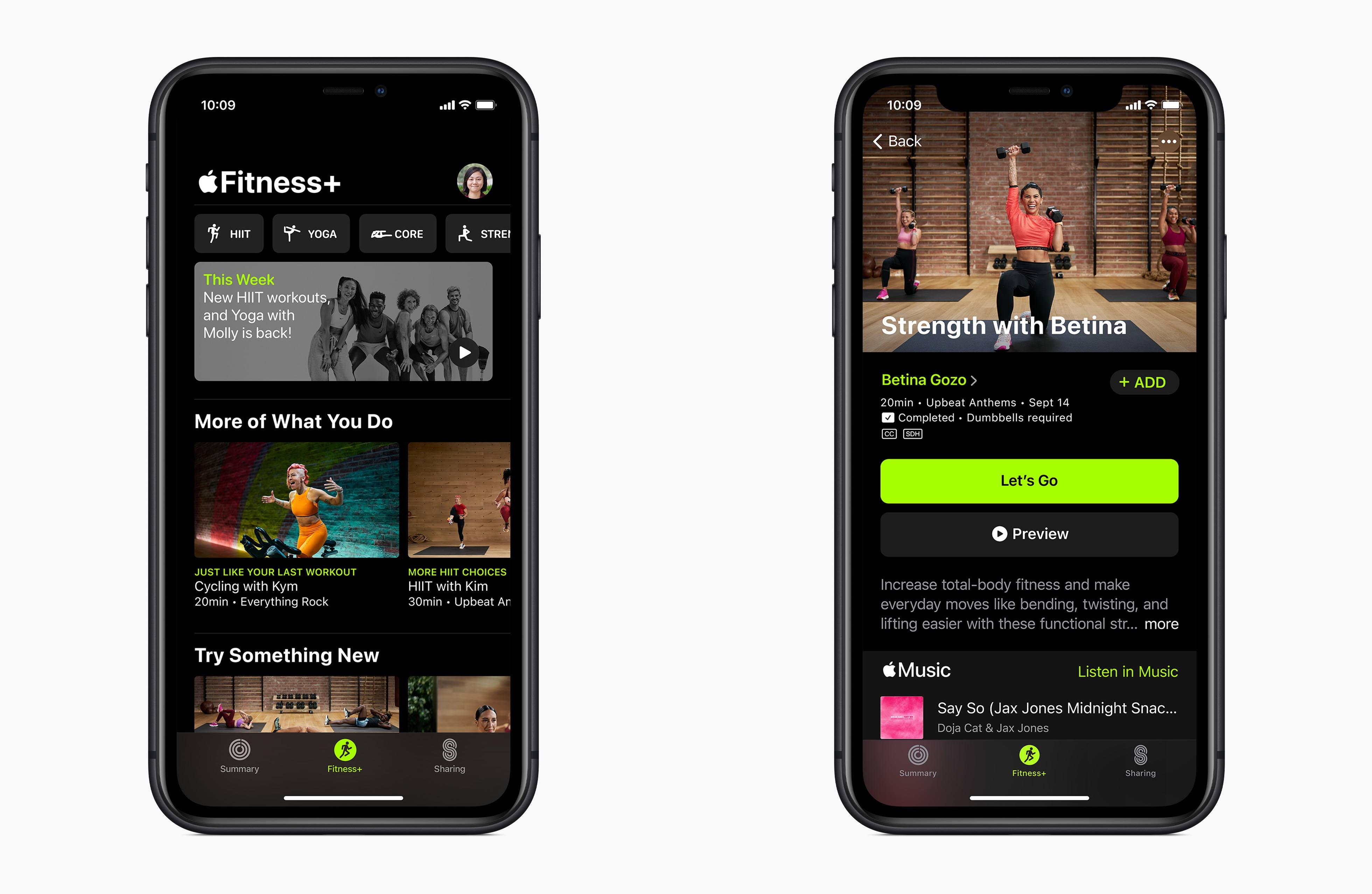 Fitness+ will live inside the Fitness app.