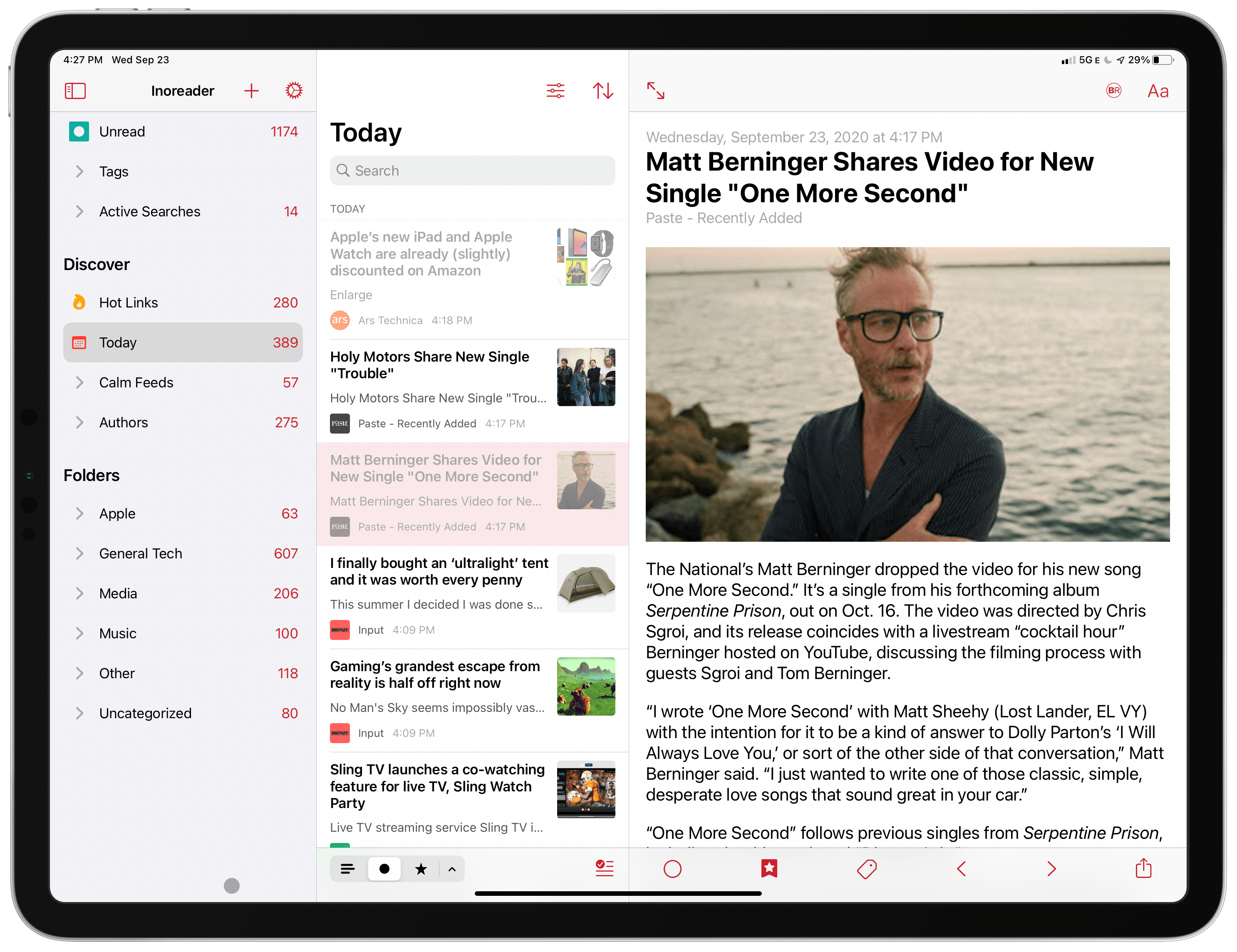Lire Brings Its Highly-Customizable RSS Reading Style to an All-New iPad Design and Widgets