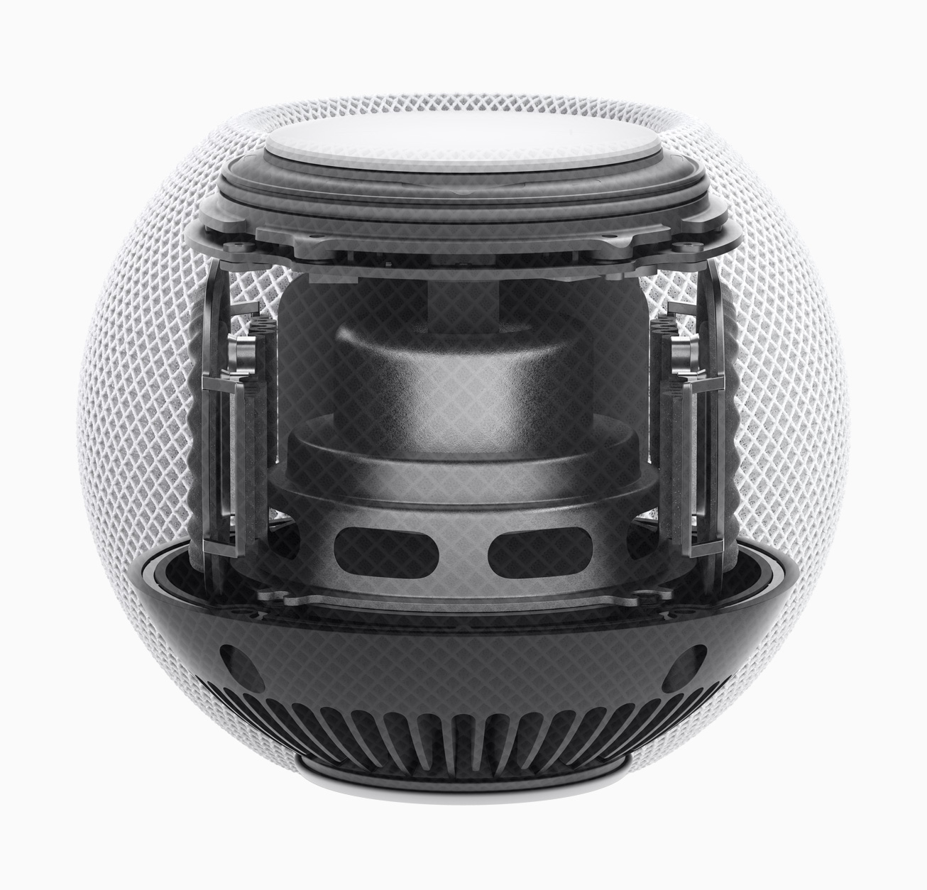 A look inside the HomePod mini. Source: Apple.