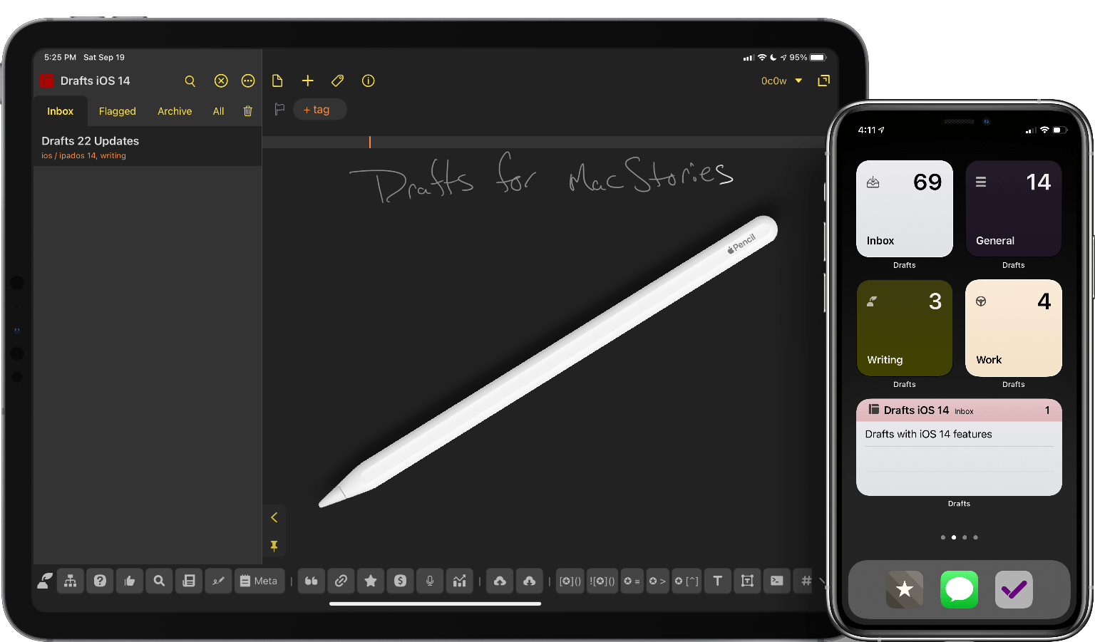 Drafts 22 Review: Widgets, Scribble, and More