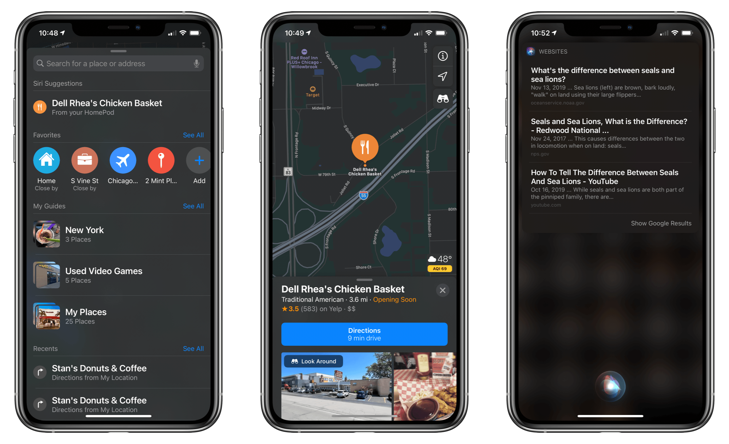 Location and web-based queries fielded by your HomePod are sent to your iPhone as Siri Suggestions.