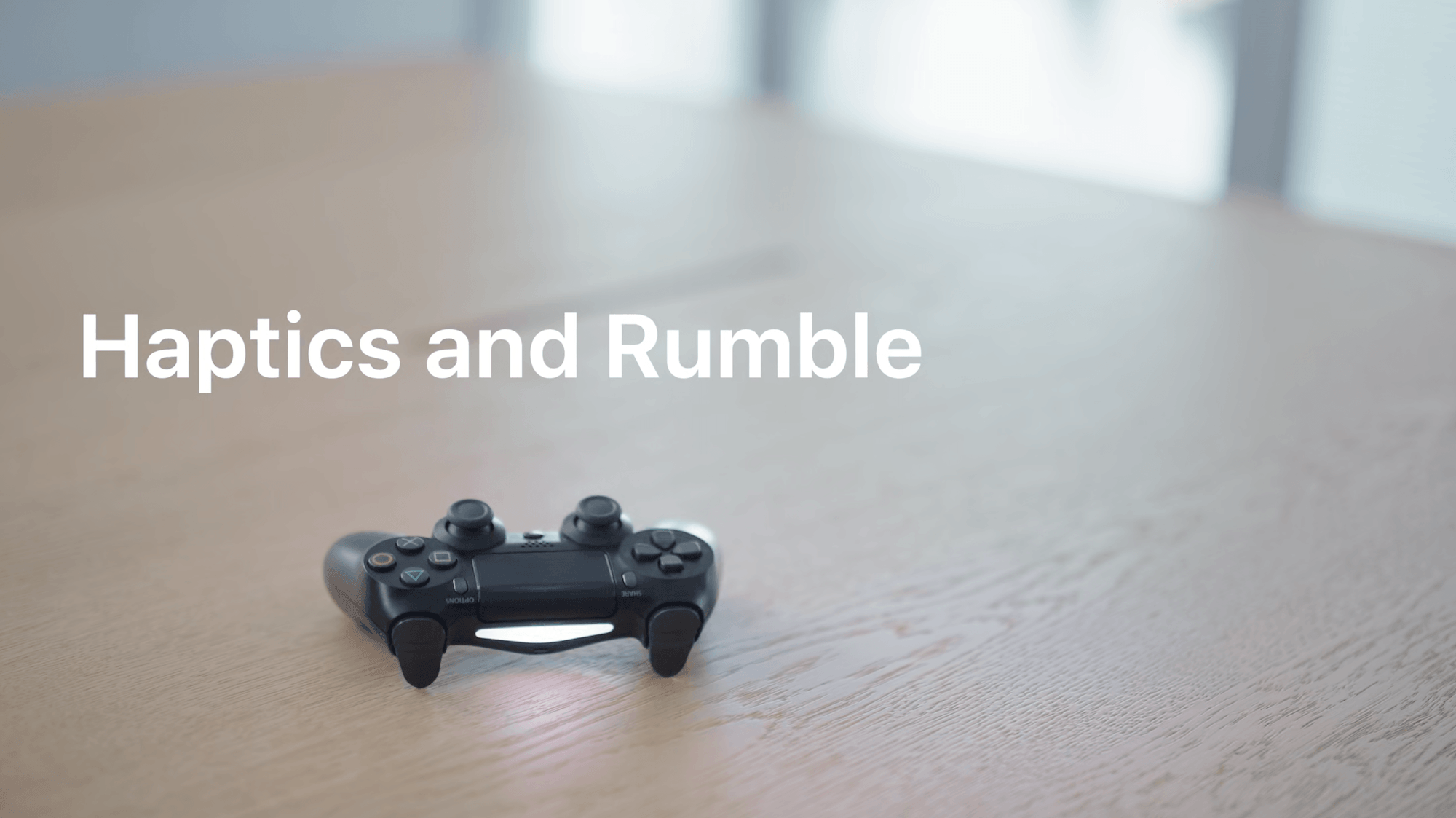 Haptics, rumble, and controller-specific features are now supported on Apple's platforms. Source: Apple.