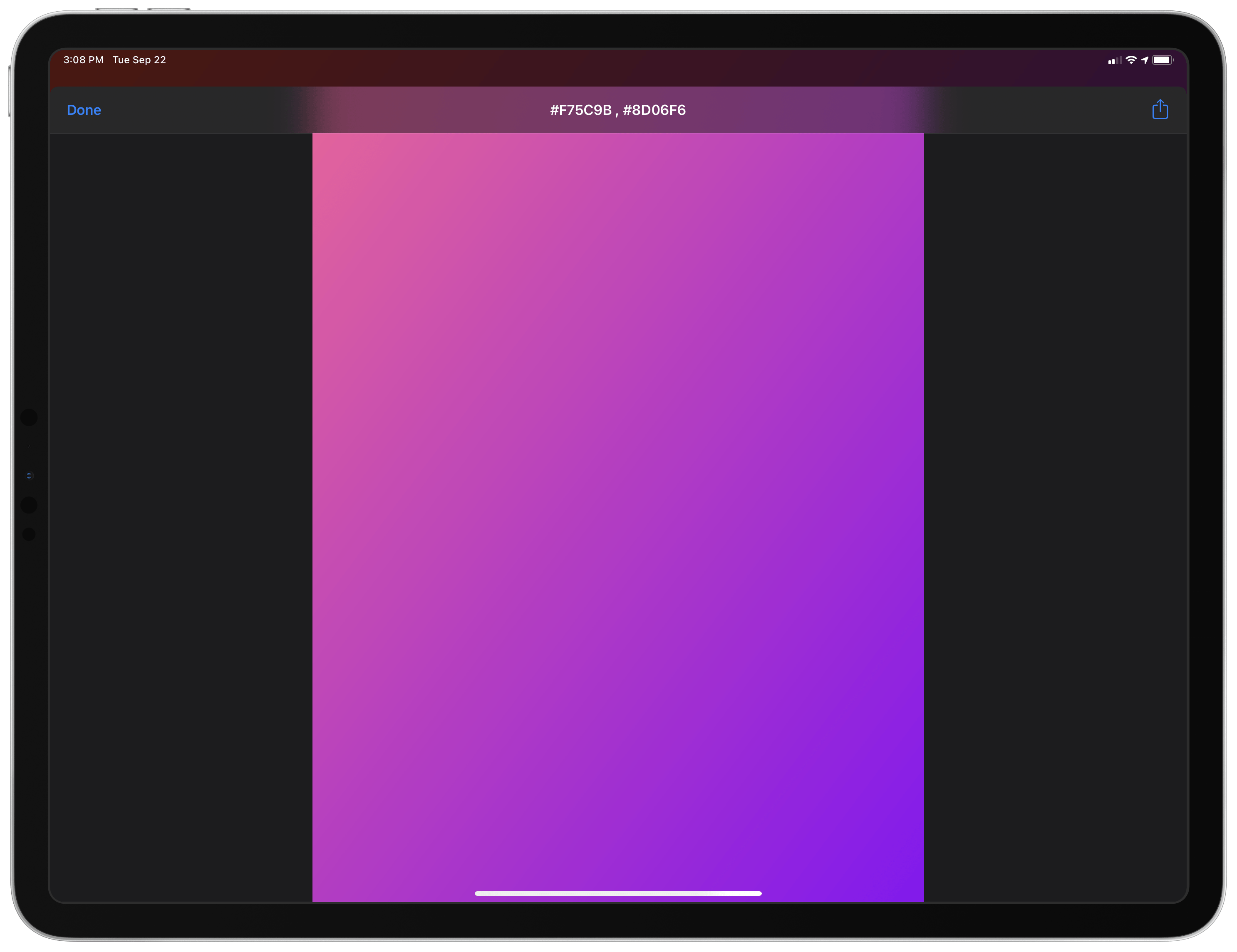A random gradient generated with WallCreator.