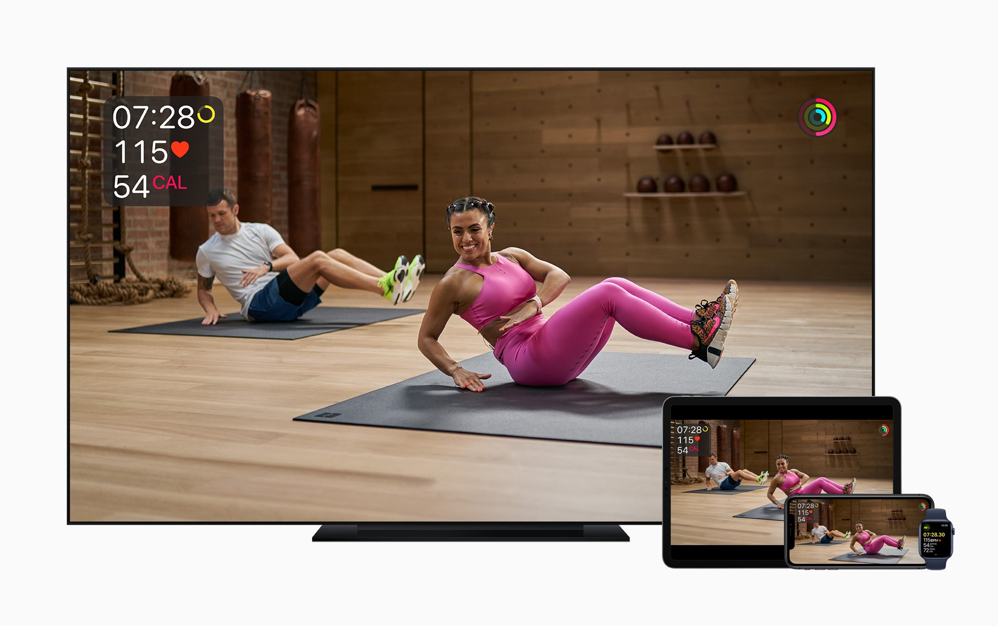 Apple Fitness+ will work across a variety of Apple devices.