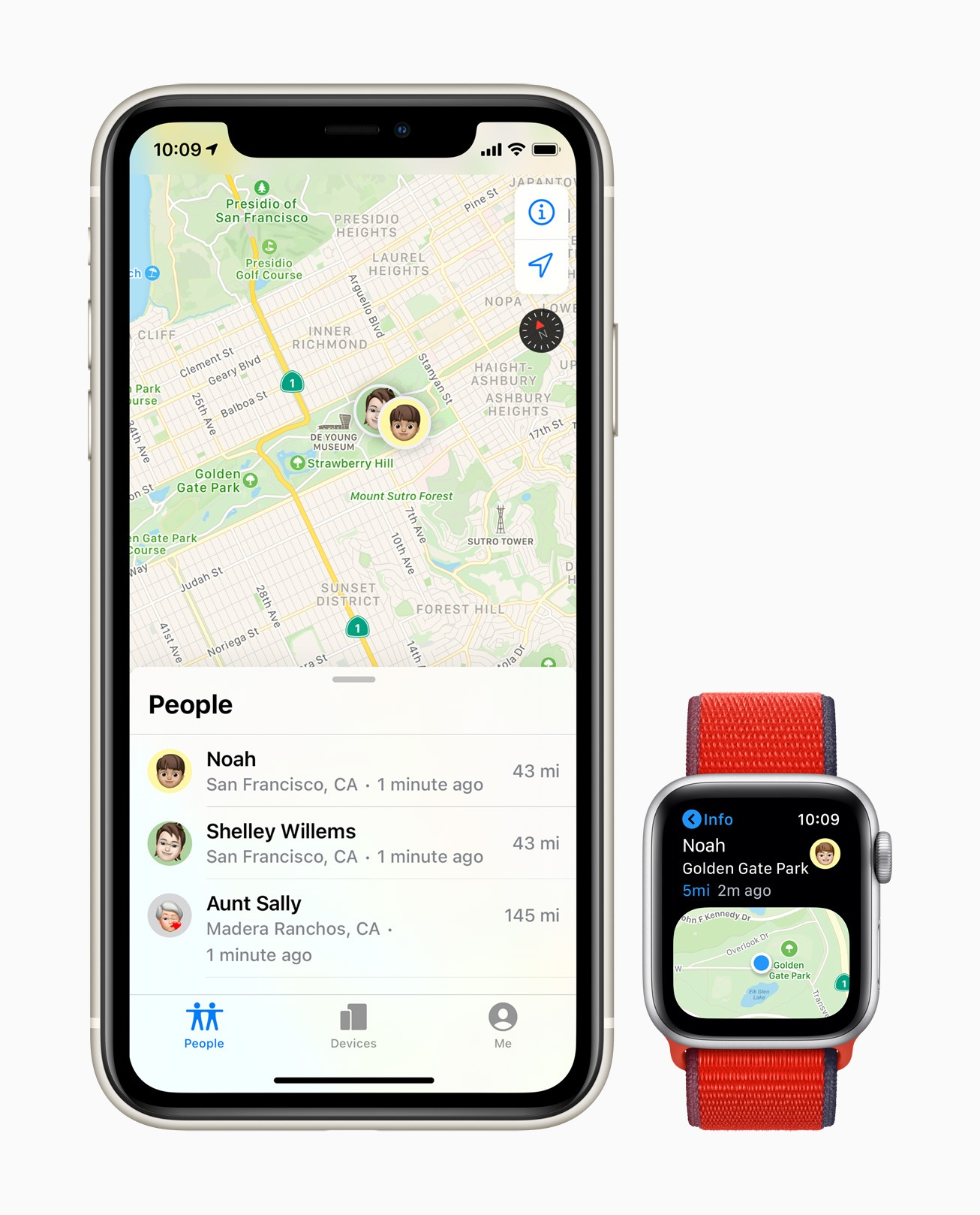 Tracking a child's location via their Apple Watch.